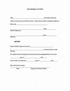 Notarized Documents Sample Notarized Letter Template Word Examples Letter Template