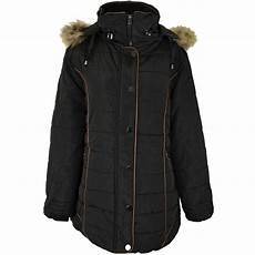 coats with plus womens plus size fur hooded winter coat quilted