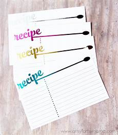 Recipe Card 3x5 Template by Free Printable Foil Recipe Cards Artsy Fartsy