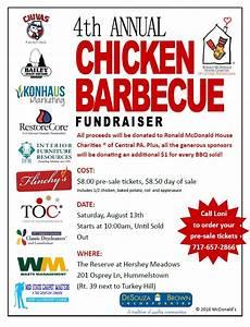 Chicken Bbq Flyer Template Ronald Mcdonald House Charity Event Chicken Bbq Desouza