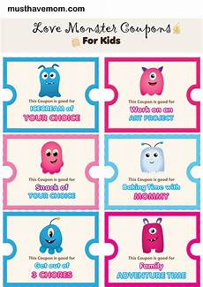 Free Easy Printable Coupons Free Printable Love Coupons To Reward Kids Must Have