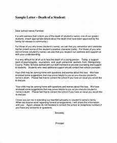 Sample Memo To Inform How To Inform About Death Sample Letter Scrumps