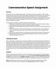 Ceremonial Speech Outline Sample Commemorative Speech 6 Documents In Pdf