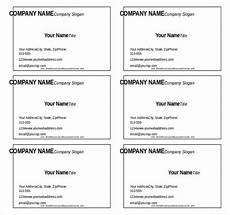 Business Card Template For Word 11 Microsoft Word Free Blank Templates Download Free