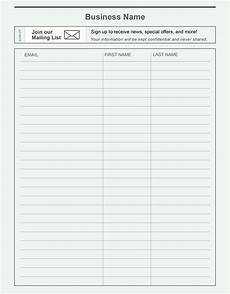 Email List Signup Sheet Email Sign Up Sheet Template Charlotte Clergy Coalition