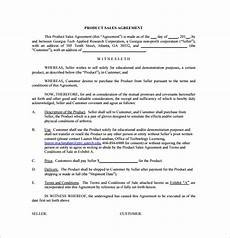Sales Agreement Template Word Sales Agreement 10 Download Free Documents In Word Pdf