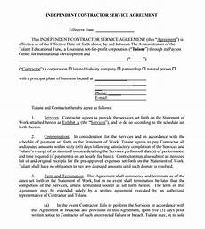 Contractor Contract Sample Free 22 Sample Independent Contractor Agreements In