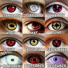 Naruto Eye Chart Which Month Are You Naruto Amino