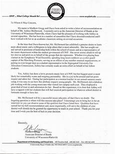College Letter Of Recommendation From Teacher Miller Middle School Band Teacher Letter Of