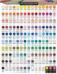 Official Prismacolor Pencils 150 Color Chart Colored