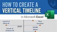 How To Create A Timeline In Excel How To Create A Vertical Timeline In Excel Youtube