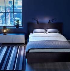 blue bedroom idea with comfortable space design amaza design