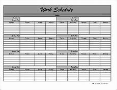 Monthly Employee Schedule Template Free Monthly Employee Schedule Template
