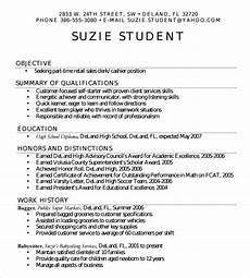 High School Student Resume Templates 7 Sample High School Resume Templates Sample Templates