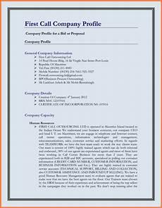 Company Profile Format In Word Free Download 5 Company Business Profile Template Company Letterhead