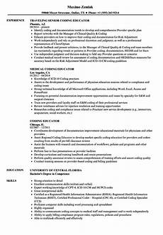 Coding Resume Coding Educator Resume Samples Velvet Jobs