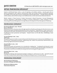 Sample Buyer Resume Retail Purchasing Specialist Resume