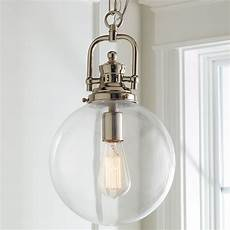 Large Glass Pendant Light Fixtures Clear Glass Globe Industrial Pendant Shades Of Light