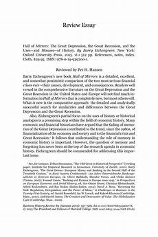 Causes Of The Great Depression Essay Pdf Hall Of Mirrors The Great Depression The Great