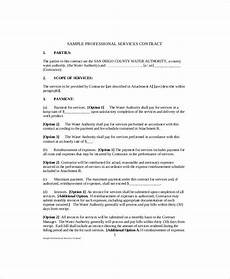 Standard Contract Template Free 13 Standard Service Contract Templates In Pdf Ms