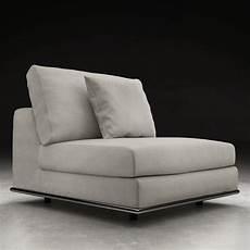 modern persis armless sofa chair moonbeam zuri furniture