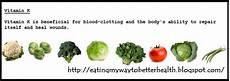 My K Chart Eating My Way To Better Health Vitamin K Food Chart