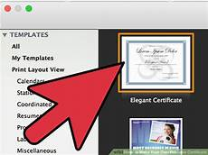 Make Your Own Printable Certificate 4 Ways To Make Your Own Printable Certificate Wikihow