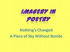 Imagery Poetry Imagery In Poetry