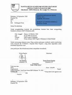 contoh undangan reuni spena 2003