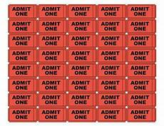 Print Tickets Free Free Printable Admit One Ticket Templates Blank