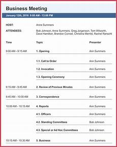 Business Agenda Example Business Meeting Agenda Templates 9 Best Samples In Pdf