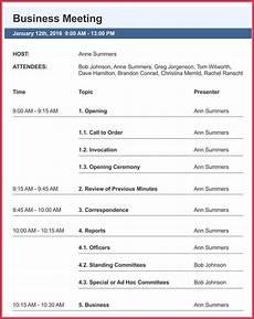 Business Agenda Format Business Meeting Agenda Templates 9 Best Samples In Pdf