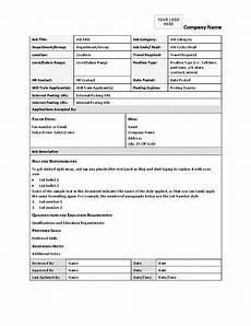 Employee Job Description Form Job Description Form