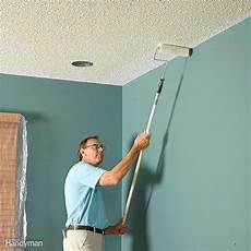 Light Textured Ceiling Paint How To Paint A Ceiling The Family Handyman