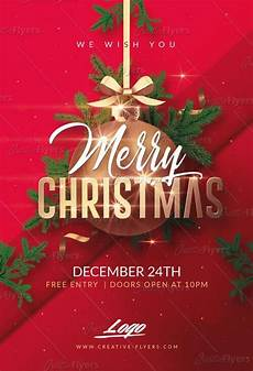 Free Christmas Flyer Psd Merry Christmas Psd Templates Invitation Creative Flyers