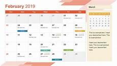 Calendar Slides 2019 Calendar Powerpoint Template Slidemodel