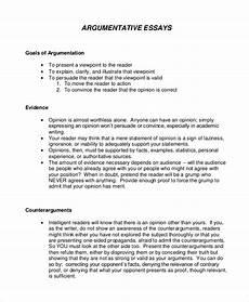 Example Essay Argumentative Free 9 Argumentative Essay Samples In Pdf