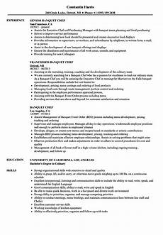 Banquet Resume Sample Banquet Chef Resume Samples Velvet Jobs