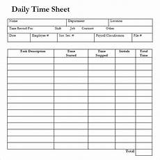 Example Of Timesheet For Employee 8 Sample Daily Timesheet Templates Sample Templates