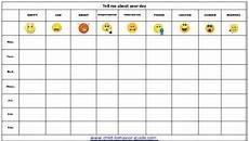 Mood Behavior Chart Feelings Chart Printable Behavior Charts Mood Chart