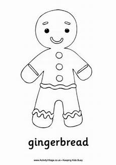 gingerbread colouring pages