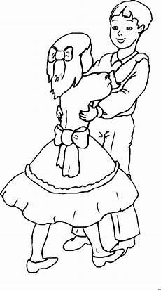 tanzende kinder ausmalbild malvorlage kinder