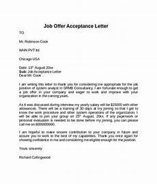 Letters Of Acceptance Job Offer Acceptance Letter For Job Offer Pdf