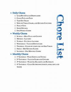 Weekly Chores Regular Chores For Three Year Olds