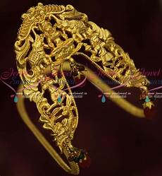 Arm Vanki Designs In Gold Ar15987 Antique Gold Plated South Indian Traditional Broad
