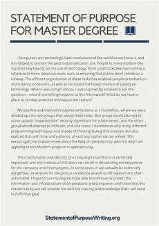 Statement Of Purpose For Grad School Examples Grad School Statement Of Purpose What Are Schools