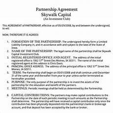 Partnership Agreement Template Free Download Partnership Agreement 9 Free Pdf Doc Download