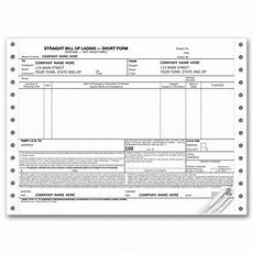 Blank Straight Bill Of Lading Continuous Straight Bill Of Lading Short Form 9252 At