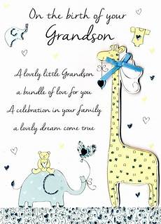 Congratulations Sayings For New Baby New Baby Grandson Congratulations Greeting Card Second