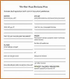 Simple Business Plan Template One Page Business Plan Pdf Template Business